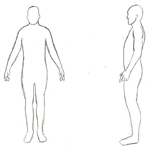 human template human outline side view