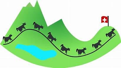 Clipart Swiss Switzerland Clip Landscape Schwitzerland Alps