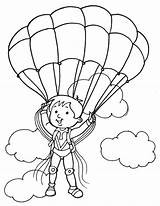 Coloring Parachute Paratrooper Pages Colouring Drawing Cloud Drawings Template Getdrawings Sketch Popular 792px 56kb sketch template