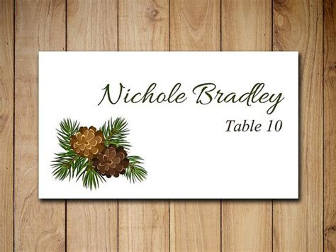 winter wedding place card table pinecone place card holders 25 best printable wedding place cards ideas on