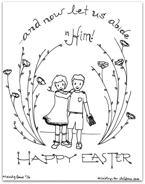 abide   easter coloring page  children