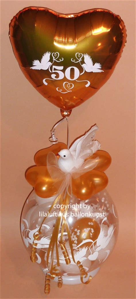 goldhochzeit geschenk im ballon geschenkverpackung