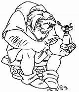 Coloring Dame Notre Hunchback Knife Coloriage Bossu Norte Colorier Feuilles Ingrahamrobotics Adulte Livres Enfants Gratuit Wecoloringpage sketch template