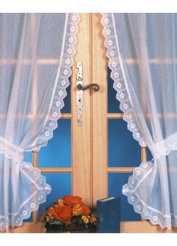 rideau bonne femme etamine sabl 233 e bordures festonn 233 e blanc homemaison vente en ligne