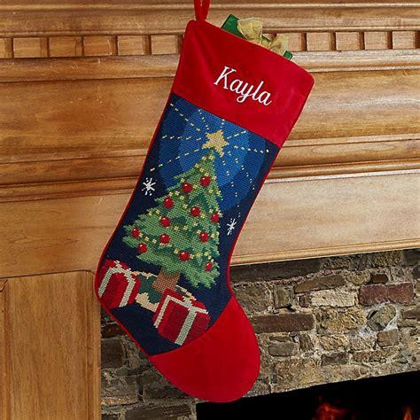 christmas tree needlepoint christmas stocking bed bath