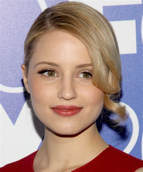 dianna agron long curly updo