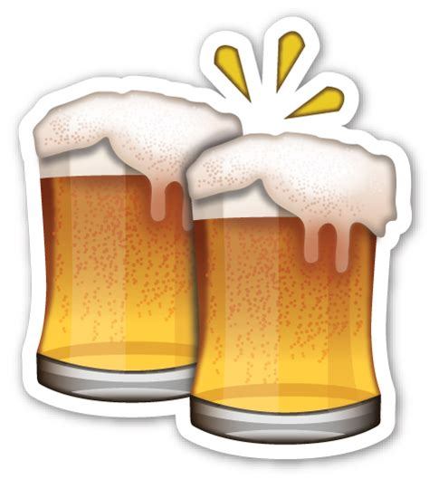 beer emoji clinking beer mugs emojis emoji and smileys