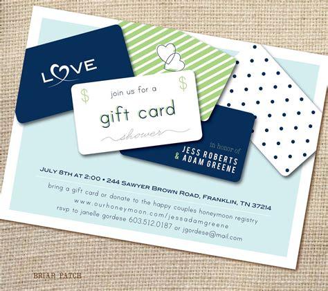gift card bridal shower invitation wording bridal shower