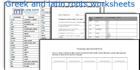 All Worksheets » Latin And Greek Roots Worksheets