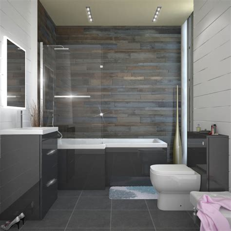 bathroom spa ideas patello grey l shaped shower bath left buy at