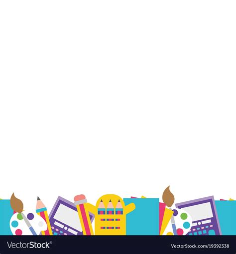 Abstract Wallpaper Design For School by Colorful Education School Tools Background Design Vector Image