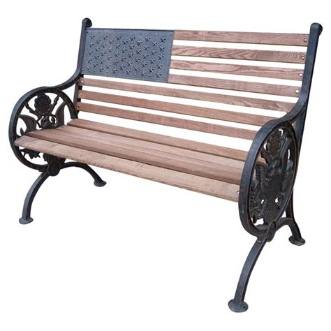 Iron Park Benches by Oakland Living Proud American Wood And Cast Iron Park