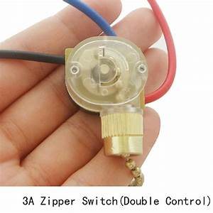 Lamp zipper switch retro pull chain ceiling light wall fan wire