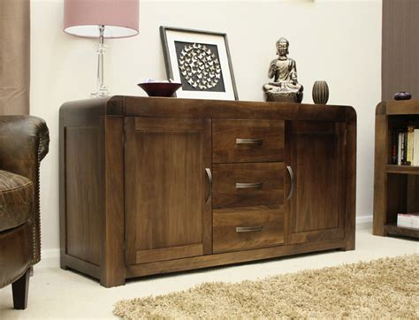 Fully Assembled Sideboards by Shiro Walnut Large Sideboard Fully Assembled Oak World