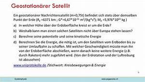 Geostationärer Satellit Höhe Berechnen : geostation rer satellit youtube ~ Themetempest.com Abrechnung