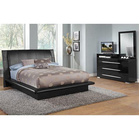 dimora  piece queen upholstered bedroom set  media