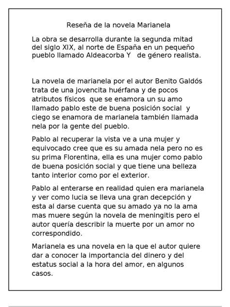 Reseña de la novela Marianela