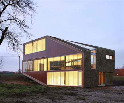 modern architecture floor plans sloping roof house design in belgium