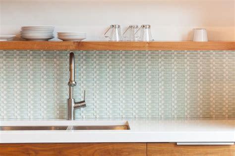 Basket Weave Backsplash : Interesting Basket Weave Glass Tile Backsplash Interior