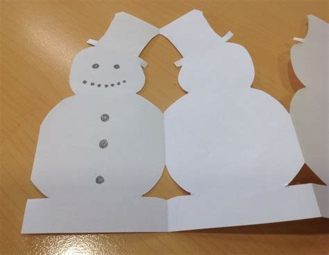 Paper Chain Snowmen Snowman Image 6