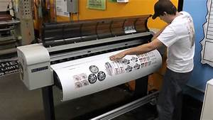 How we make vinyl stickers decals in charlotte youtube for Vinyl lettering printing equipment