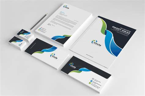 circle creative corporate identity design template