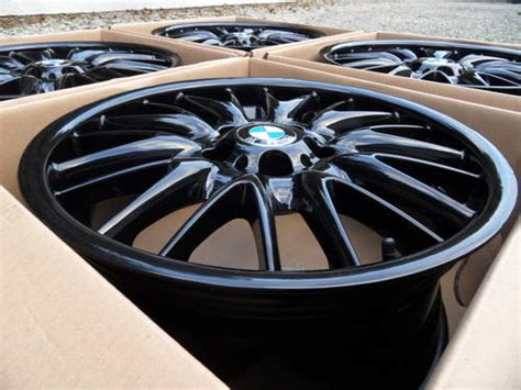 Genuine Bmw 18 Inch Mv1 Staggered Alloy Wheels. For Sale