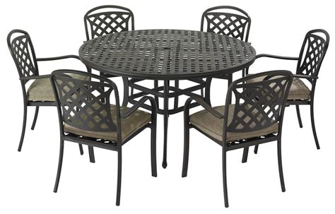 6 Seater Metal Garden Table And Chairs berkeley cast aluminium 6 seater garden dining set