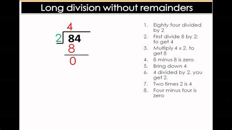 long division   remainders easy math division