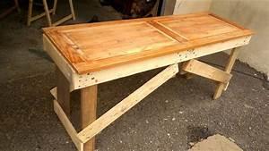 Table En Palette : banc en palette table en palette table de jardin ~ Melissatoandfro.com Idées de Décoration