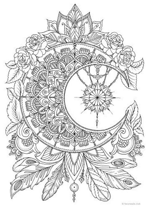 moon printable adult coloring page  favoreads
