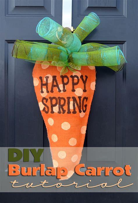 mk designs blog burlap carrot door hanger tutorial