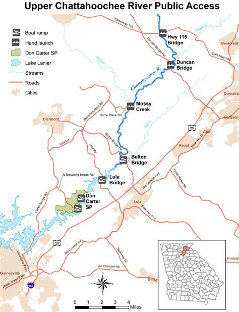 Alpine Boat Basin Trail Map by Chattahoochee River Fishing And Access Points