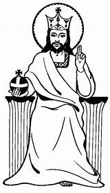 Jesus Coloring King Christ Pages Colouring Drawing Clipart Play Clipartbest Getdrawings Popular sketch template