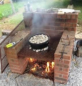 barbecue en brique fait maison atlubcom With photo barbecue fait maison