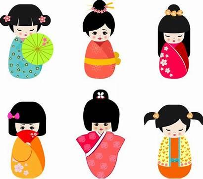 Doll Japan Cultural Culture Clipart Vector Svg