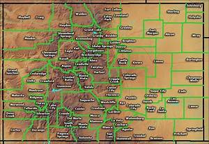 units of map of colorado cities major cities point ...