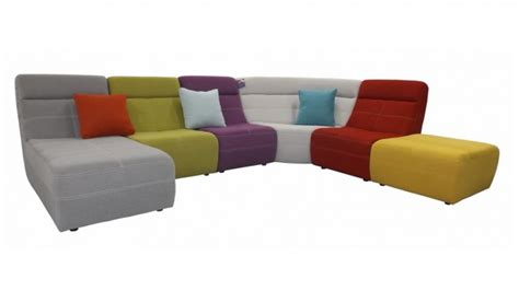 grand canap d angle tissu grand canapé d 39 angle multicolore osaka revêtement tissu