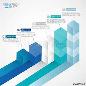 U0026quot 3d Growing Infographic Bar Chart Diagram For Financial