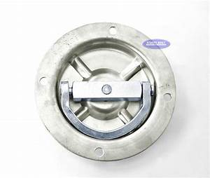 Flush mount swivel anchor flip d ring rated to 5000lbs for Flush mount tie down anchors