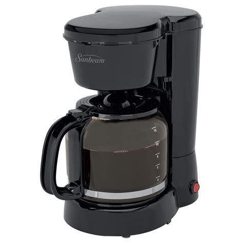 Insert a filter into the basket and close it. Sunbeam - 12 Cup Coffee Maker | Magasins Hart | Hart Stores