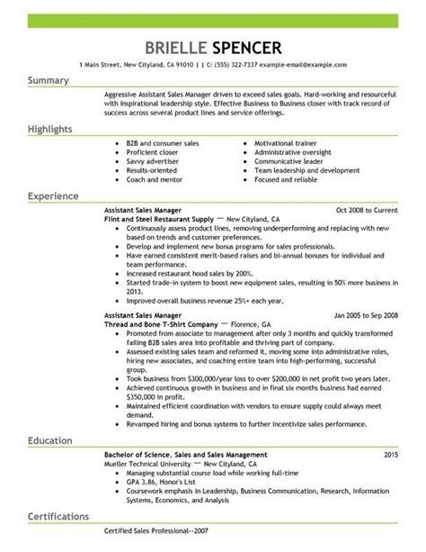 resume area sales manager fmcg