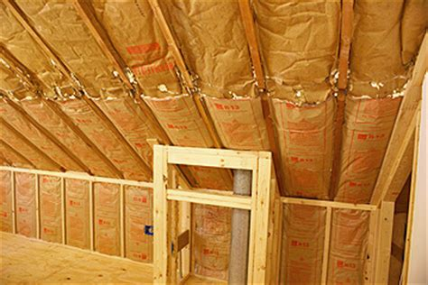 Hanging Drywall On Angled Ceiling by Installing Rigid Foam Insulation On Interior Walls Or Ceiling