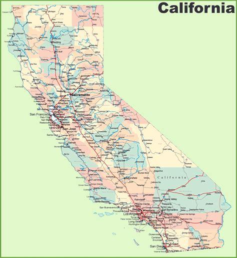 mapas detallados de california  descargar gratis