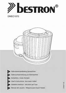 Bestron Dmec1072 Ice Cream Maker Download Manual For Free
