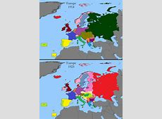 European territorial changes after World War 1 Maps on