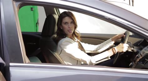 woman singing   acura car commercial