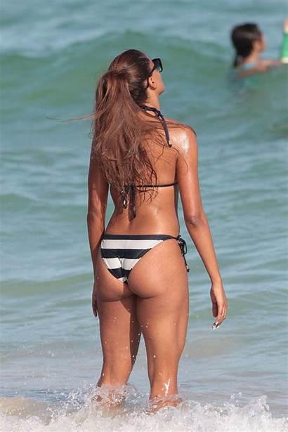 Bikini Claudia Jordan Miami Beach Candids Wearing