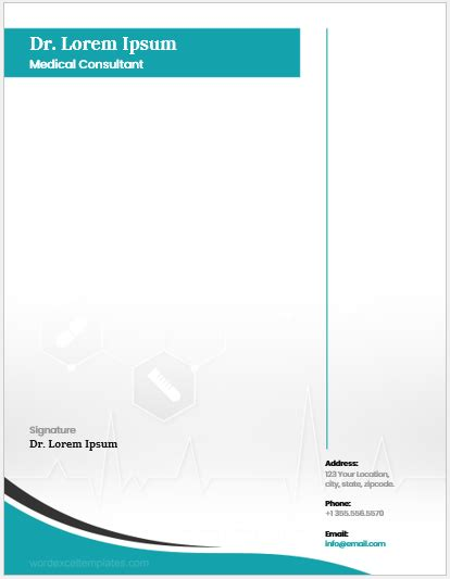 doctors letterhead templates  ms word