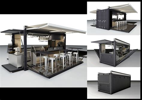 prefabricated container coffee bar
